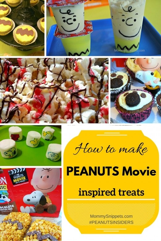 How to make PEANUTS Movie Inspired treats- MommySnippets.com