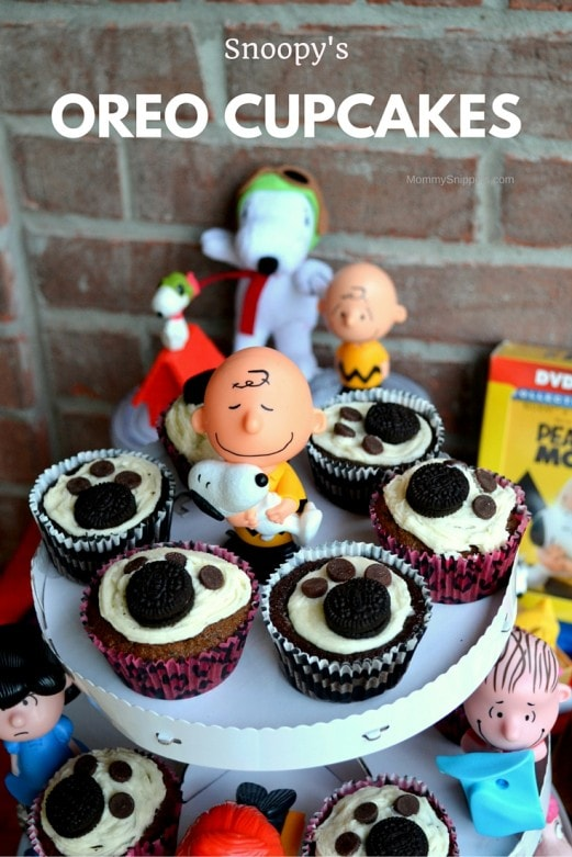 Snoopy's OREO Cupcakes Recipe- MommySnippets.com