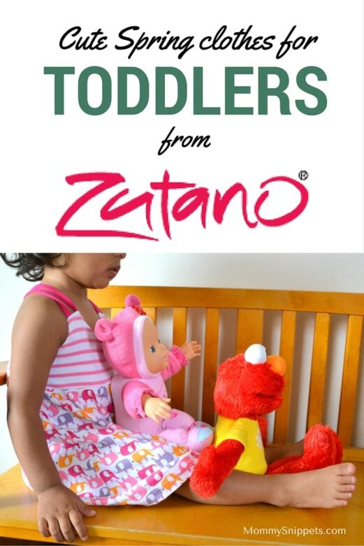 Cute Spring clothes for toddlers from Zutano-MommySnippets.com (ad)