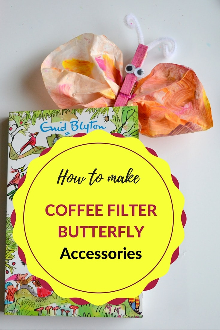 How to make Coffee Filter Butterfly Accessories- MommySnippets.com