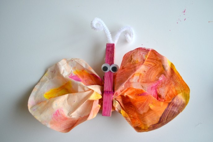 How to make coffee filter butterfly accessories- MommySnippets (29)