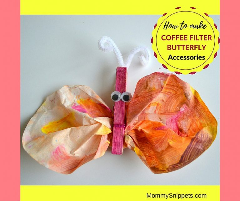 How to make coffee filter butterfly accessories