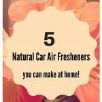 5 ways to make a natural car air freshener