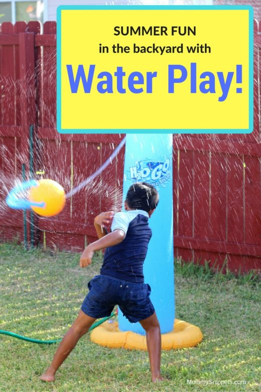 Summer fun with water play in your backyard- MommySnippets.com