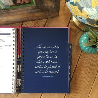 Staying organized and rooted with an Anchored Press Planner