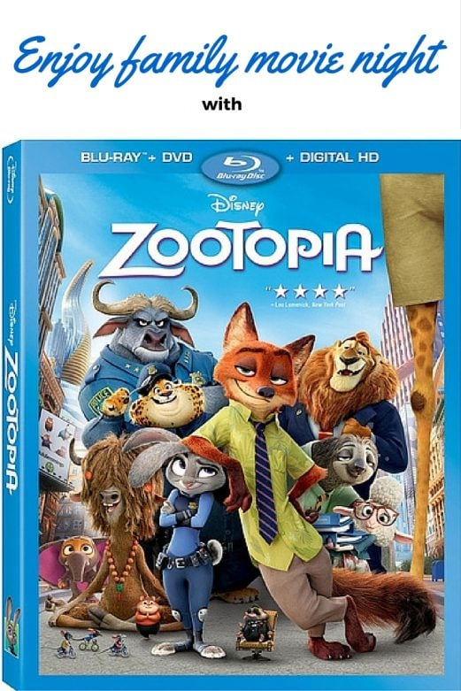 Enjoy family movie night with Zootopia- MommySnippets.com