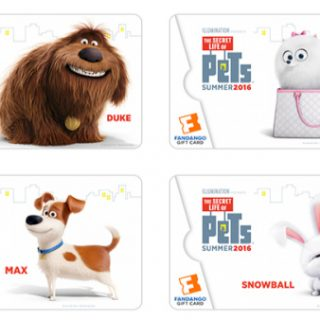 The Secret Life of Pets Fandango collectible gift cards {+ Giveaway}