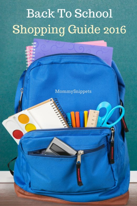 Back To School Shopping Guide 2016