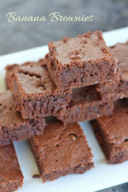 Banana Brownies- MommySnippets.com