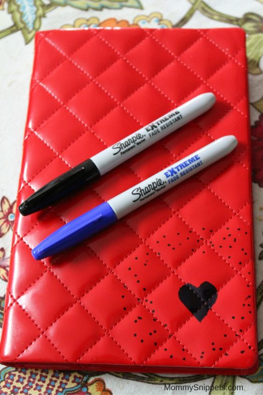 DIY Sharpie Art on Journals, Books, Folders- MommySnippets.com