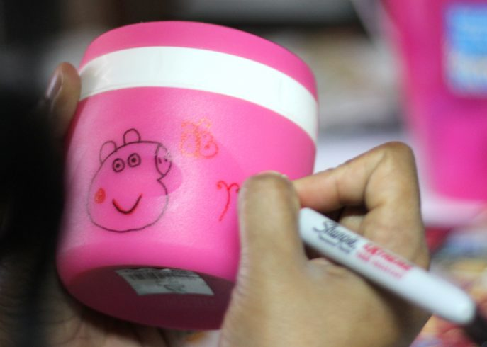 Peppa Pig lunch jar