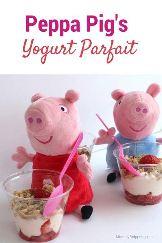 Peppa's Yogurt Parfait Recipe - {Making breakfast fun for your Peppa Pig fan} MommySnippets.com