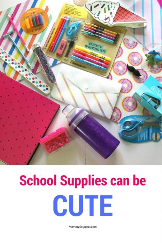 School Supplies Can Be Cute- MommySnippets.com (ad)
