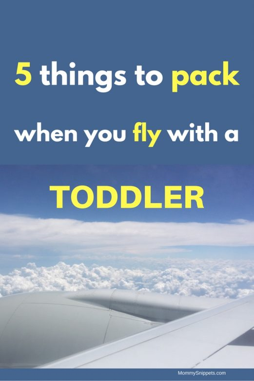 5 things to pack when you travel with a toddler- MommySnippets.com #WaterWipesWalgreens #ad #IC