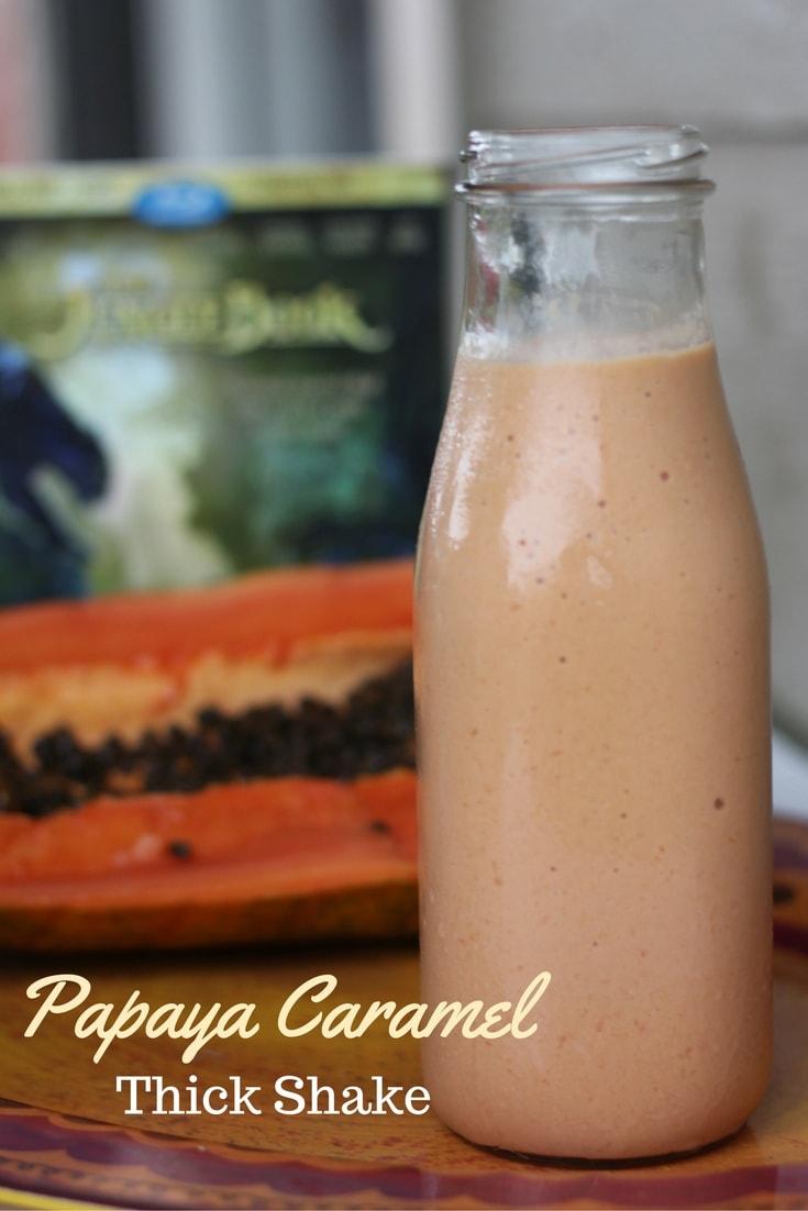 Watch The Jungle Book and enjoy a Papaya Caramel Thick Shake