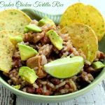 Slow Cooker Chicken Tortilla Rice {Recipe}
