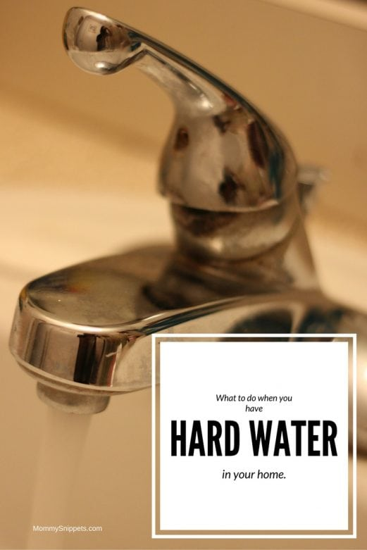 What to do when you have hard water in your home- MommySnippets.com #SeeWaterClearly (#Sponsored)