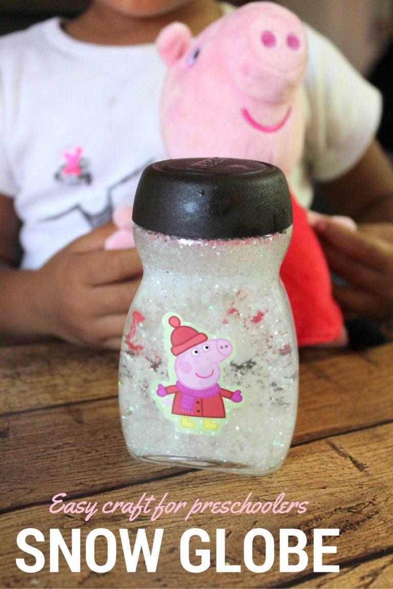 An easy Snow Globe your Preschooler can make.