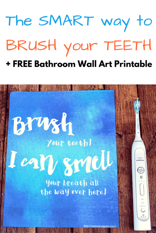 I just found a smart way to brush my teeth! (+ FREE Printable) - MommySnippets.com #BrushingEvolvedBBB #CollectiveBias #Sponsored
