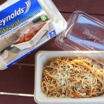 Reynolds™ Disposable Heat & Eat containers and a Spaghetti Bolognese Recipe