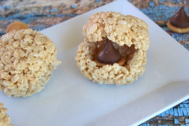 How to make Scrat's Hidden Acorn Rice Krispies Treats