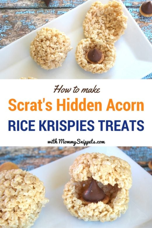 Scrat's Hidden Acorn Rice Krispies Treats - MommySnippets.com #ScratInSpace #CollisionCourse #FHEInsiders #IceAge #Sponsored
