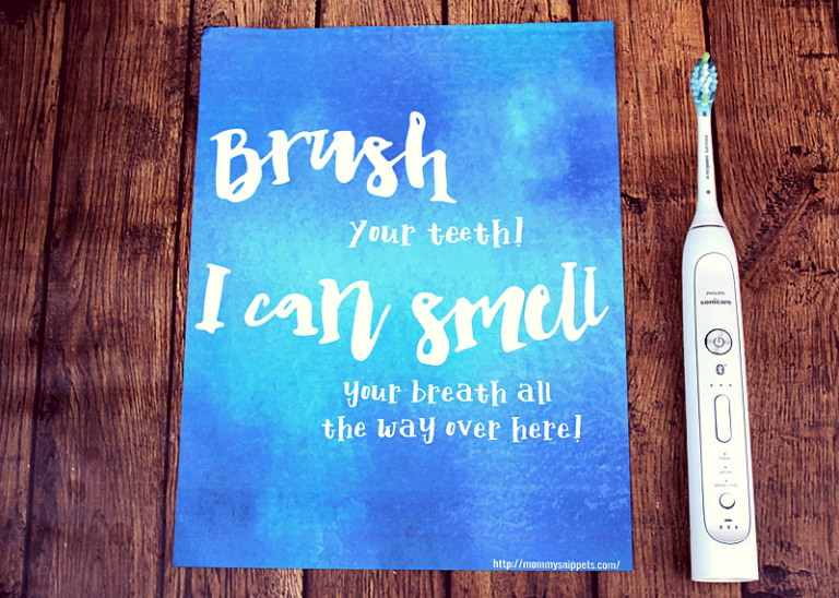I just found the smart way to brush my teeth! (+ Wall Art Printable)