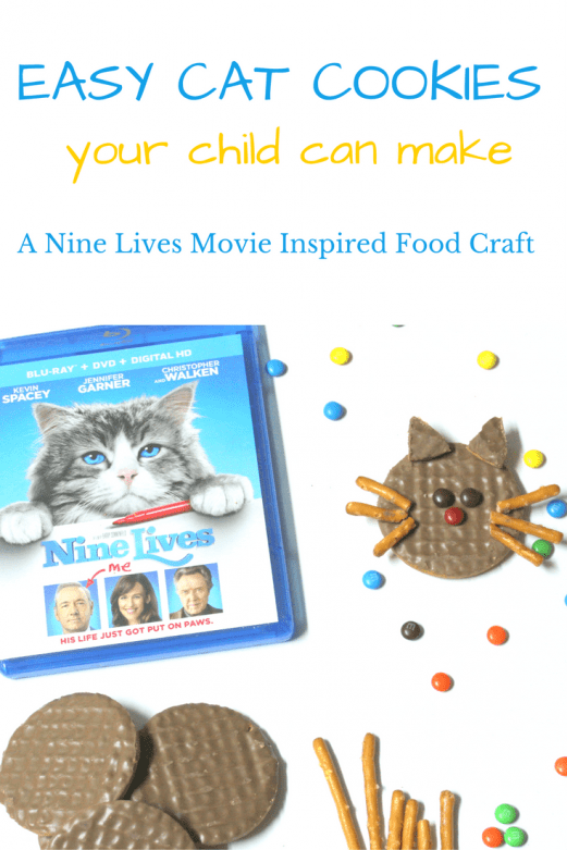 Easy Cat Cookies that your child can make - MommySnippets.com #NineLivesInsider #FHEInsiders