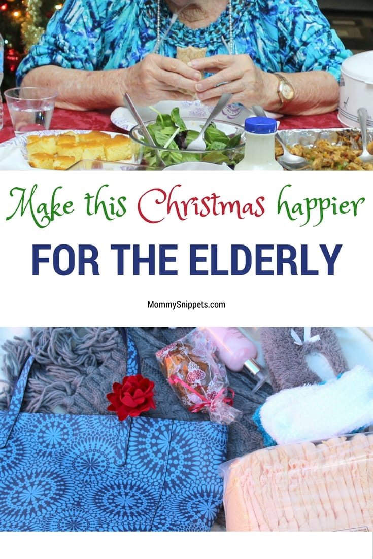 How can you make this Christmas happier for the elderly? -MommySnippets.com #MyCareGivingStory #ad