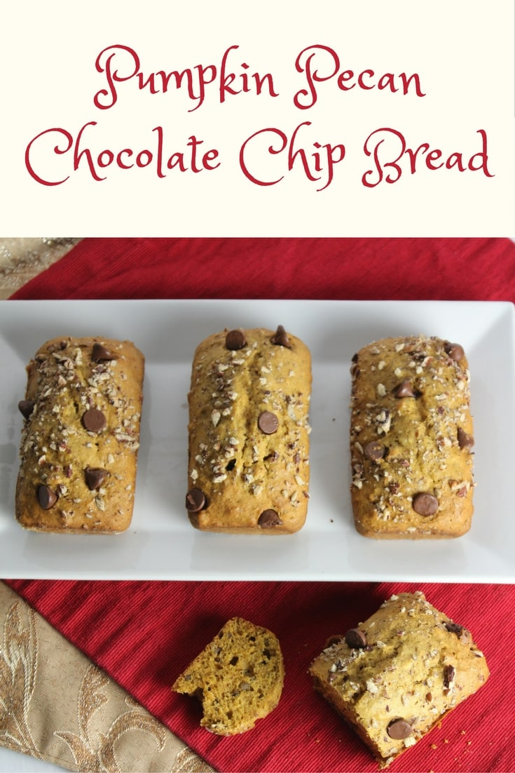Pumpkin Pecan Chocolate Chip Bread-MommySnippets.com #MyCareGivingStory #ad