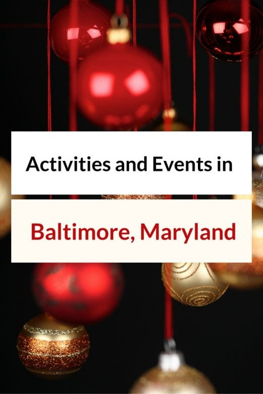 Activities and events in baltimore maryland