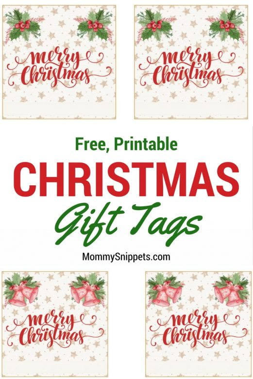 Free Printable Christmas Gift Tags- MommySnippets.com