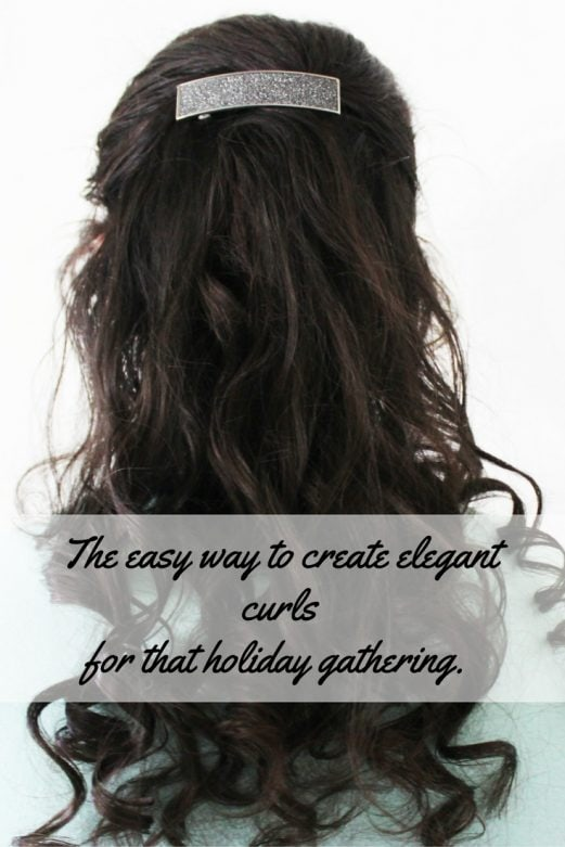 The easy way to create elegant curlsfor that holiday gathering.- MOmmySnippets.com #HolidayStyleQuiz #ad