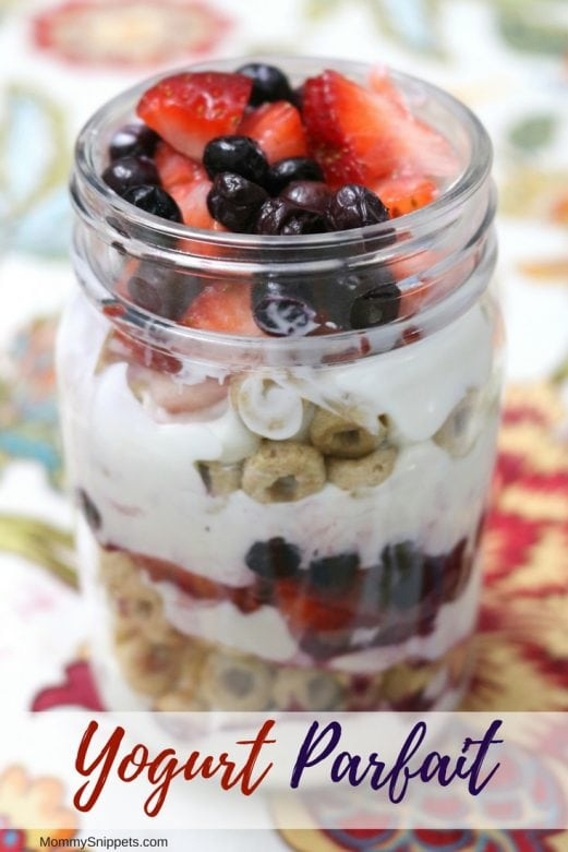One of the best yogurt parfait recipes - MommySnippets.som #SpoonfulsOfGoodness #Sponsored