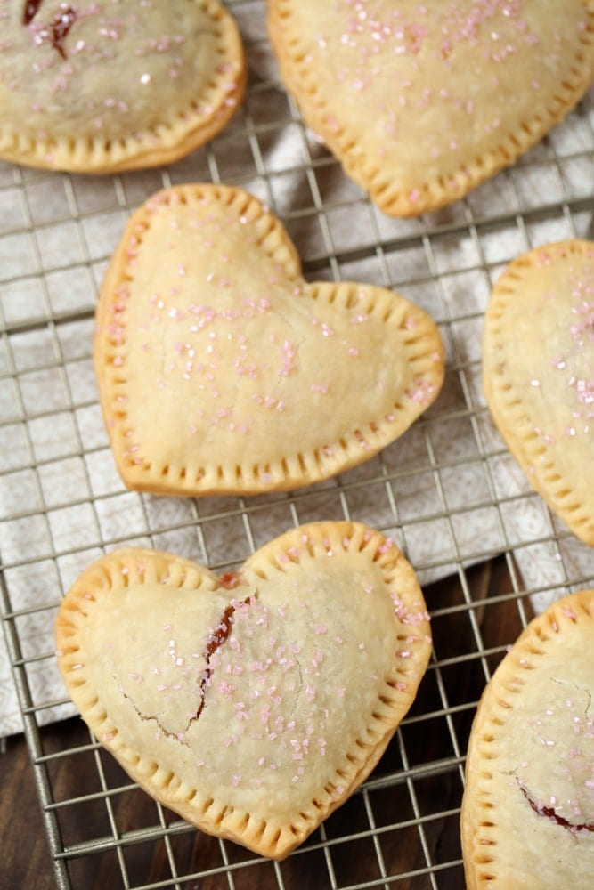 How to make Heart Shaped Strawberry Pastries for Valentine's Day