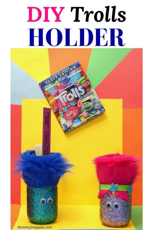 How to make your own Trolls movie inspired holder - MommySnippets.com #BringHomeHappy #FHEInsiders #ad (1)