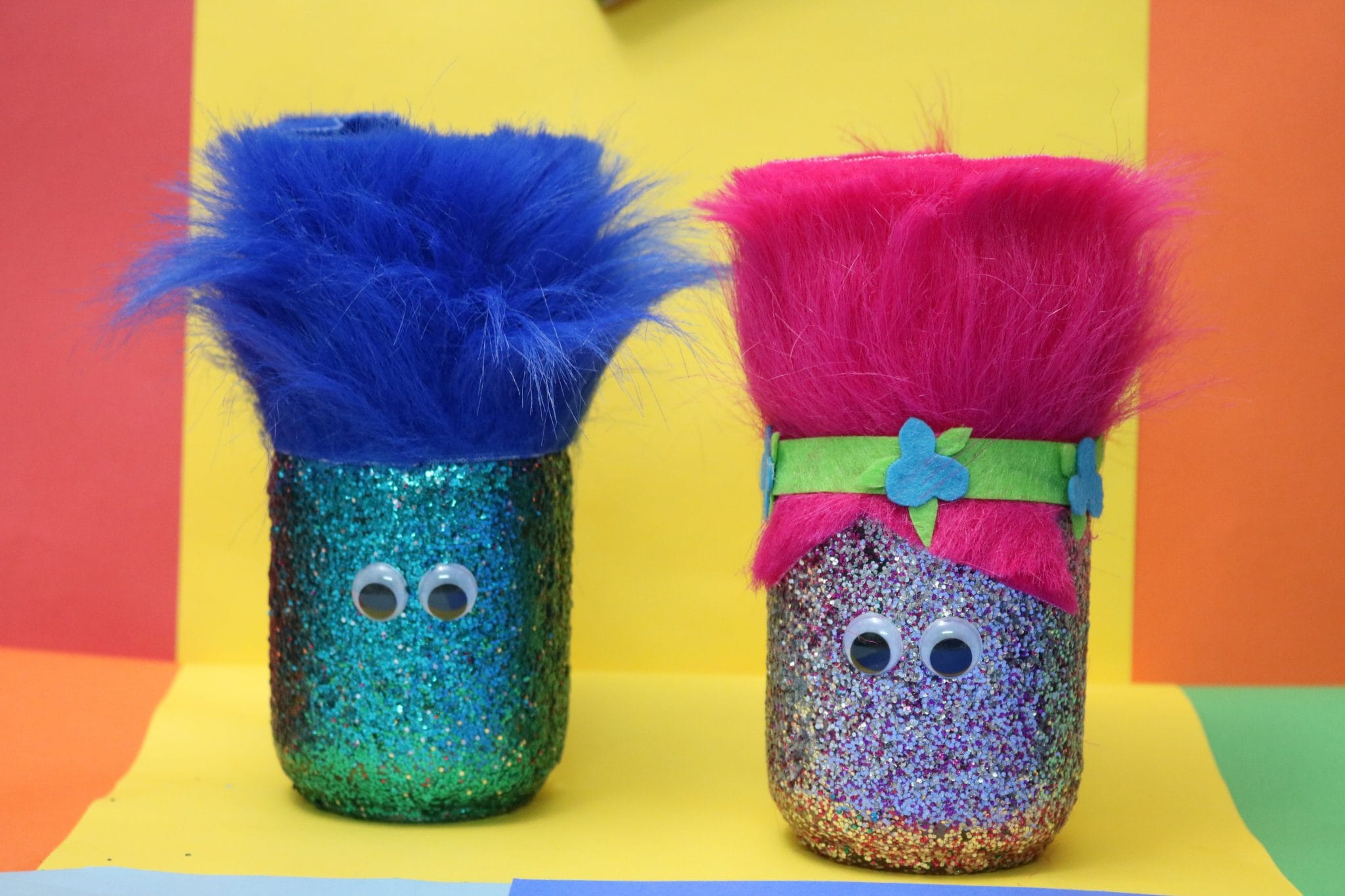 How to make your own Trolls movie inspired holder. - MommySnippets.com #BringHomeHappy #FHEInsiders #ad (7)