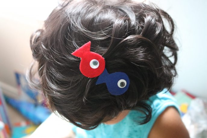 How to make an easy Red Fish Blue Fish hair accessory