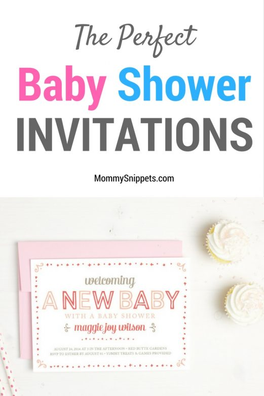 The perfect baby shower invitations- MommySnippets.com