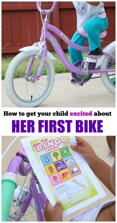 How to get your child excited about her first bike- MommySnippets.com #SchwinnBingoSweepstakes #Sponsored