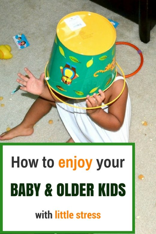 How to enjoy your baby and older kids with little stress- MommySnippets.com #ad