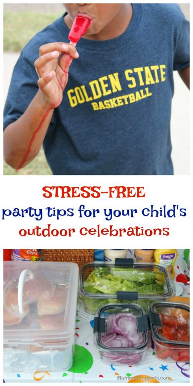How to host a stress-free party for your child outdoors #StoredBrilliantly #ad