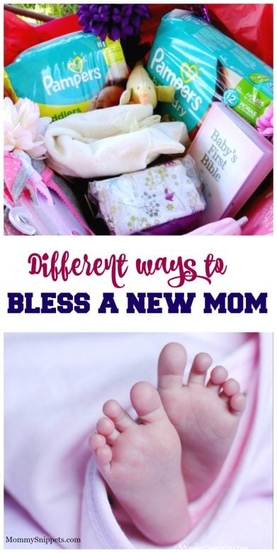Different ways to bless a new mom- MommySnippets.com #PampersPalooza #Diapers #LuvsAGoodDeal #ad