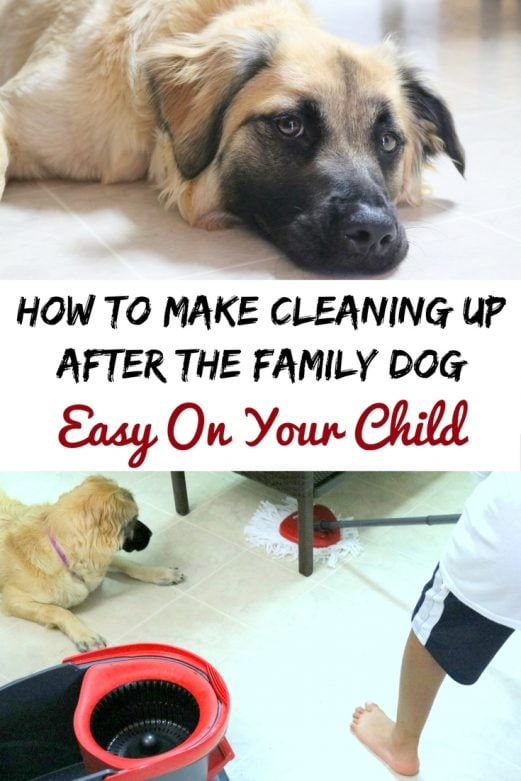 How to make cleaning up after the family dog easy on your child- MommySnippets.com #OCedarClean #Sponsored