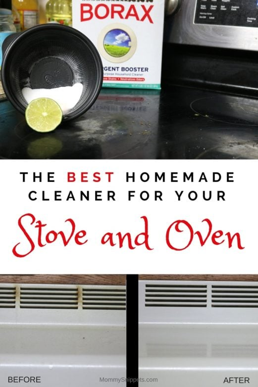 The best homemade cleaner your stove and oven will ever need - MommySnippets.com #BoostWithBorax #ad #CollectiveBias