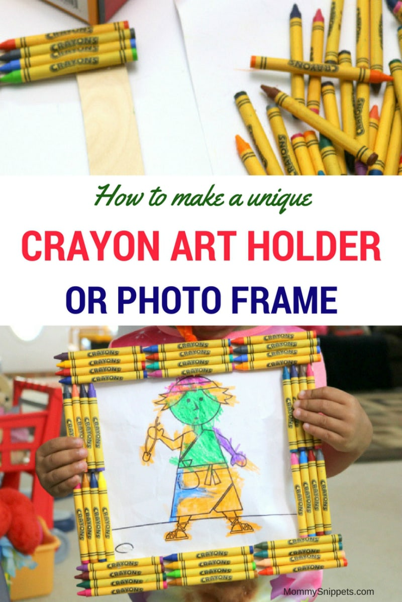 How to make a unique crayon art holder- MommySnippets.com #Sponsored