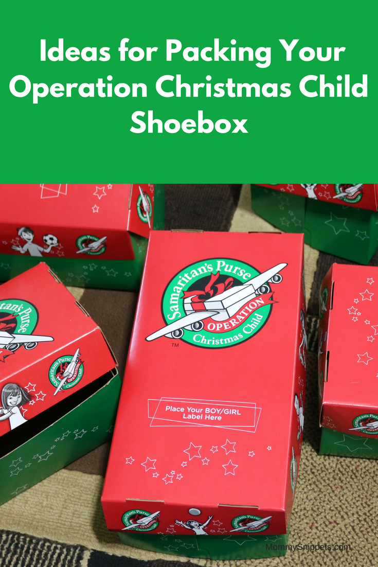 Printable Checklist: Ideas for Packing Your Operation Christmas Child Shoebox -MommySnippets.com