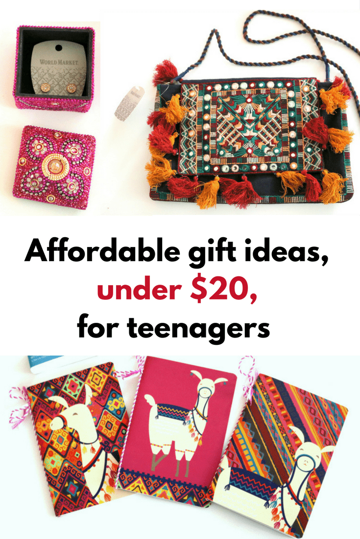 Affordable gift ideas, under $20, for teenagers - MommySnippets.com #giftthemjoy #worldmarkettribe #ad