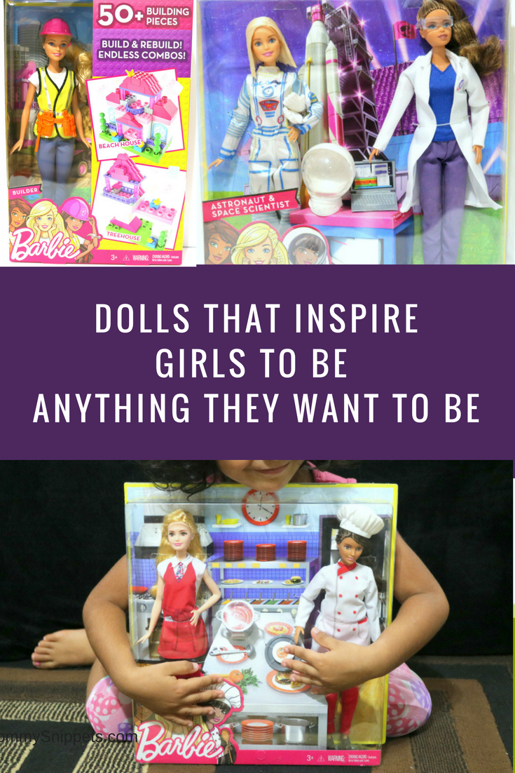 Dolls that inspire girls to be anything they want to be- MommySnippets.com #WalmartBarbieCareer #ad