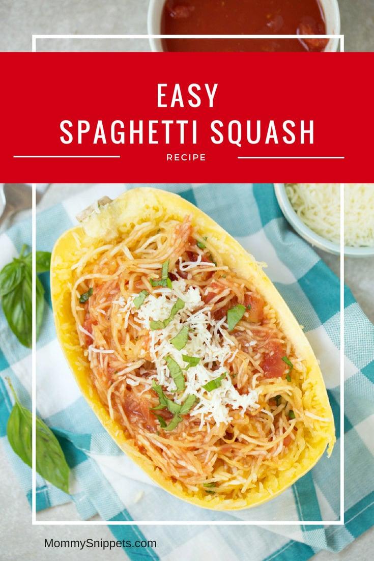 How to make an easy Spaghetti Squash - MommySnippets.com #HuntsHolidayTraditions #sponsored